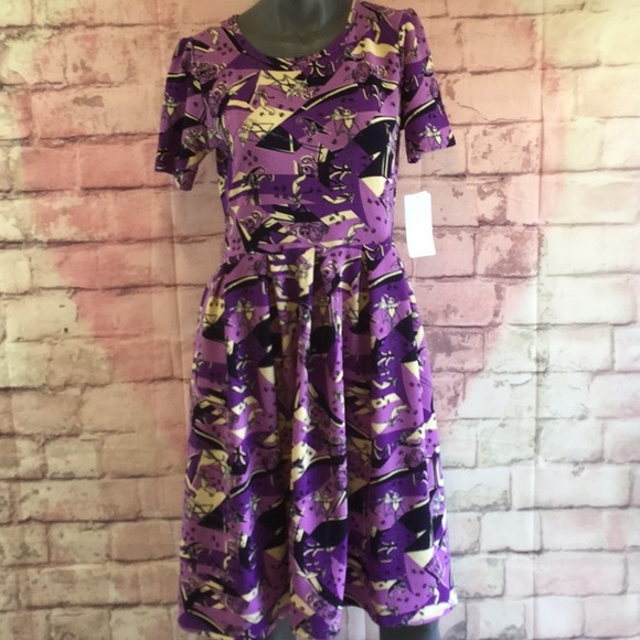 Lularoe Dresses Nwt Nightmare Before Christmas Amelia In
